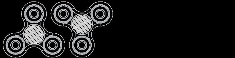 Fidget Spinner Sítotisk