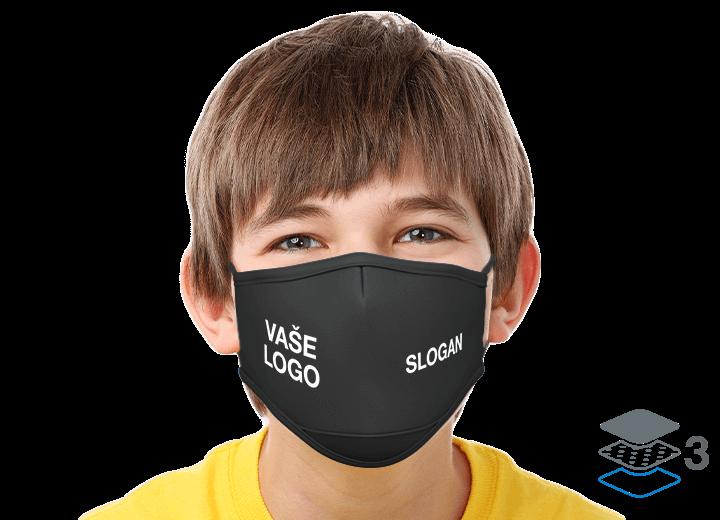 Junior - Obličejové masky s logem