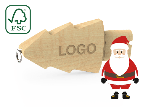 Christmas - Vlastní USB flash disky s vánočním stromkem